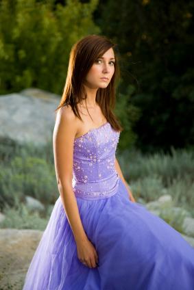 Blå balklänning