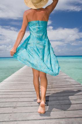 Blå klänning