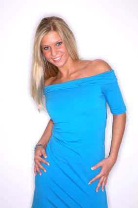Blå tubklänning