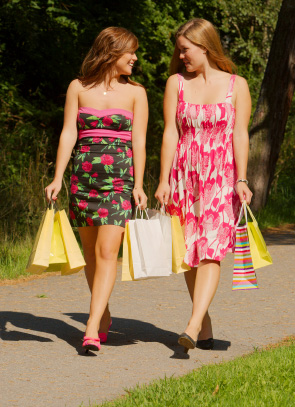 Blommiga klänningar
