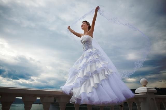 Klassisk brudklänning