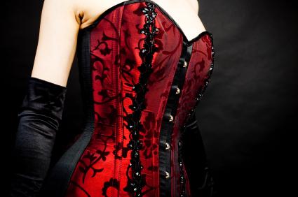 Korsettklänning retro