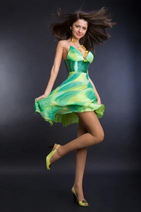 Kort A-linjeformad klänning