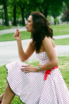 Prickiga klänning
