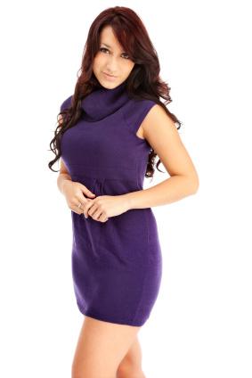 Stickade klänning
